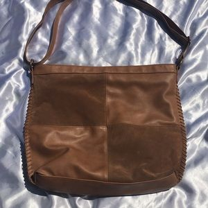 Caramel T shirt and Jeans Bag